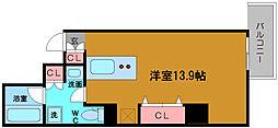 プロシード北堀江[5階]の間取り