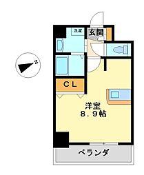 プレサンス名古屋駅前プラチナム[2階]の間取り