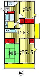 第2東マンション[4階]の間取り