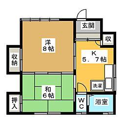 相馬荘5号棟[1階]の間取り