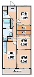 サンパーク寺尾[2階]の間取り
