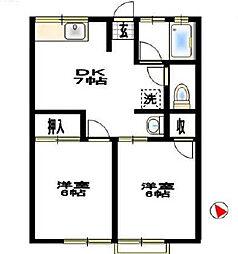 シティハイムサニーハイツ[1階]の間取り
