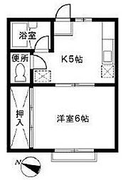 神奈川県相模原市南区相南4丁目の賃貸アパートの間取り