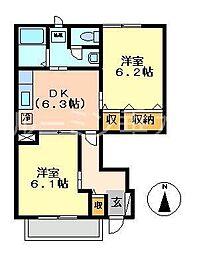 アメニティカスガⅡ[1階]の間取り