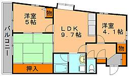 プレザント山浦[2階]の間取り