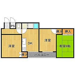 オレンジハウス小路[2階]の間取り