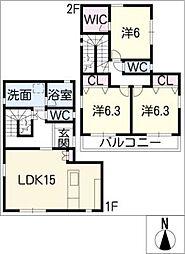 [一戸建] 愛知県名古屋市名東区勢子坊2丁目 の賃貸【/】の間取り