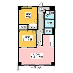 ドエル21[1階]の間取り