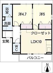 レトア高横須賀[2階]の間取り