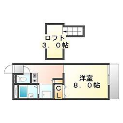 広島県福山市松永町4丁目の賃貸アパートの間取り
