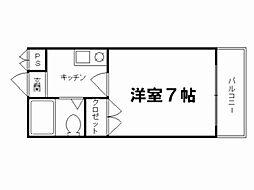 ロイヤルコーポ紫野1[4階]の間取り
