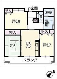 柏井第2コミュニティ住宅[1階]の間取り