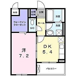 長野西アパートB[2階]の間取り