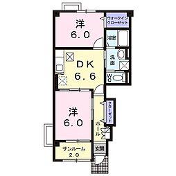 プードルハウスC[1階]の間取り