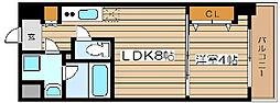 オルフェア難波南11番館[5階]の間取り