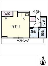 D‐roomビーチルック 2階ワンルームの間取り