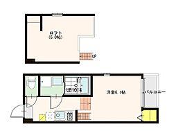 ハーモニーテラス東園田町[2階]の間取り