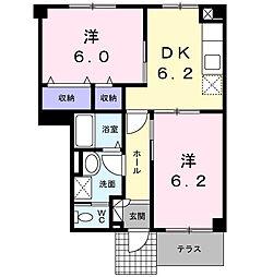 ニューシティ藤澤A棟[1階]の間取り