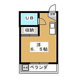 シャトレ壬生[4階]の間取り