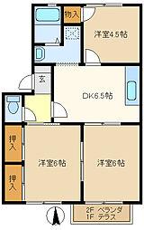 パラシオンユキ 201[2階]の間取り
