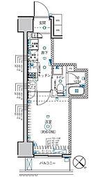 小田急小田原線 町田駅 徒歩8分の賃貸マンション 6階1Kの間取り