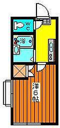 鯲沼第2レジデンス[205号室]の間取り