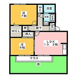 さつき館[1階]の間取り