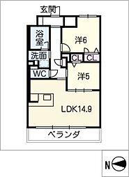 セレニティー勝川[9階]の間取り