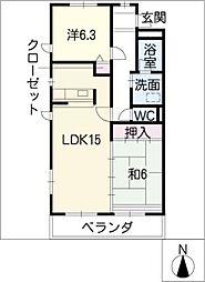 レジデンス富士[3階]の間取り