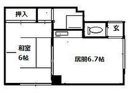 北海道札幌市南区澄川四条3丁目の賃貸アパートの間取り