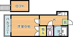 PaSTORaL力丸(パストラル力丸)[202r号室]の間取り