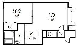 K.M.K[2階]の間取り