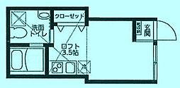 神奈川県川崎市高津区下作延1丁目の賃貸アパートの間取り