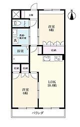 アドバンス・ピアI[2階]の間取り