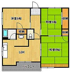 兵庫県神戸市兵庫区氷室町2丁目の賃貸マンションの間取り