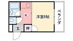 ル・ラ・シフォーン[1階]の間取り