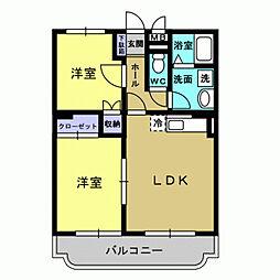 JR日豊本線 国分駅 徒歩26分の賃貸マンション 1階2LDKの間取り