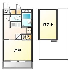 兵庫県姫路市辻井6丁目の賃貸アパートの間取り