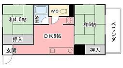 ロカトーレ・タケウチ[301号室]の間取り