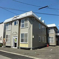 北海道江別市野幌松並町の賃貸アパートの外観