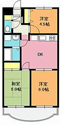 埼玉県北本市中央4丁目の賃貸マンションの間取り
