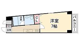 ハッピーハウス川西[2階]の間取り