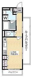 京王井の頭線 東松原駅 徒歩4分の賃貸マンション 4階ワンルームの間取り