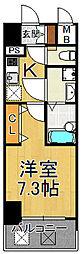エスプレイスアーバンレジデンス 14階1Kの間取り
