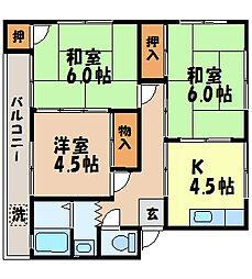 サンシャイン野田[301号室]の間取り