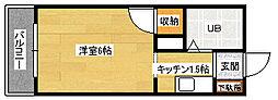 第2祇園Sビル[305号室]の間取り