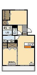 ベルヴューA棟[3階]の間取り