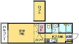サンティール篠栗[1階]の間取り