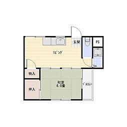 コーポ島本[3階]の間取り