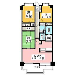 ライオンズガーデン南光台[1階]の間取り